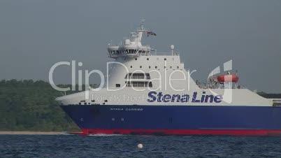 Fährschiff der Reederei Stena Line in der Kieler Förde