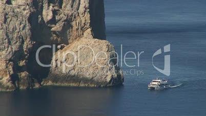 Schiff am Cap de Formentor