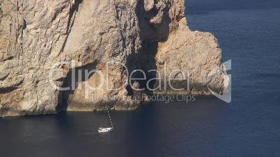 Segelboot am Cap de Formentor