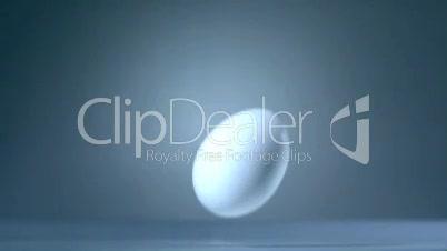 Ei fällt und zerbricht 2 - Slow Motion, High Speed 1000 fps