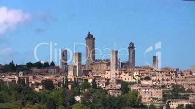 San Gimignano, Toskana, Stadt der Türme  (Zeitraffer)