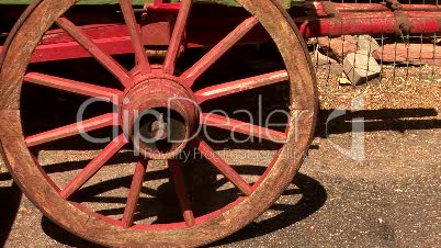 Old Red Wagon Wheel