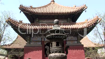 Lama Temple Pagoda and Incense Burner