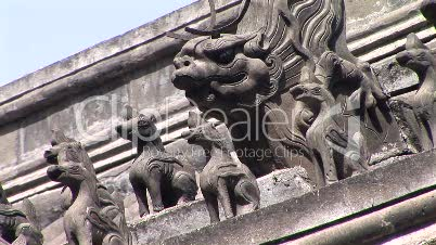 Chinese Dragon Roof Detail