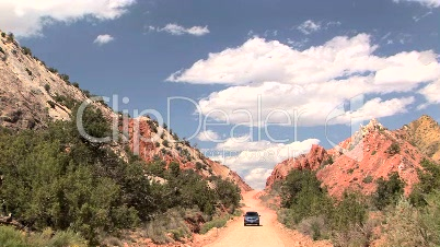 Car in Grand Staircase Escalante National Monument, Time Lapse