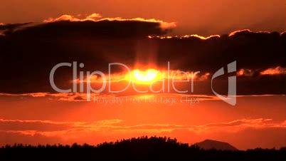 Sun setting, Time Lapse