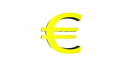 Euro Zeichen dreht sich (Loop)