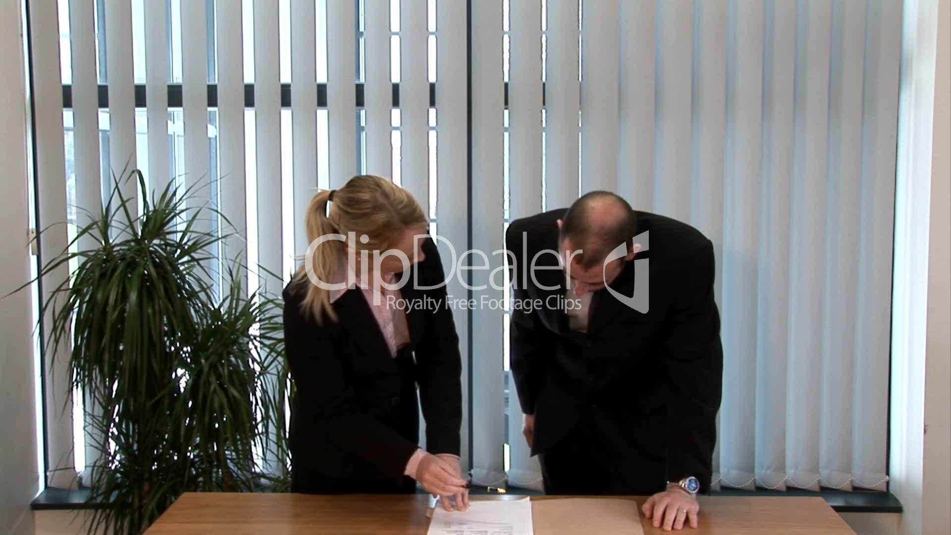 business people signing a contract  royalty