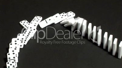 Stock Footage -Dominoes Falling