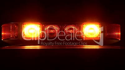Stock Footage - C.U.  Warning Lights