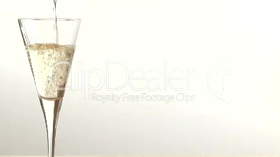Stock Footage  - Pouring a glass of White Wine