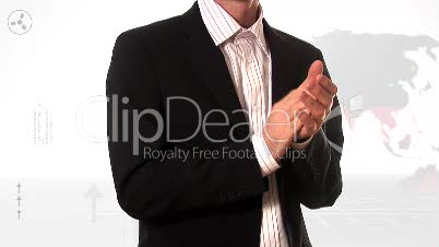 Stock Footage of a Business Man Applauding