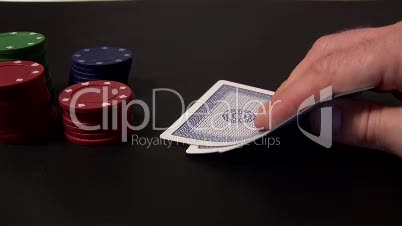 Stock Footage of a Person Playing Poker