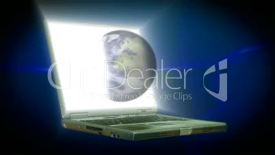 Stock Animation of a Lap Top with the Globe