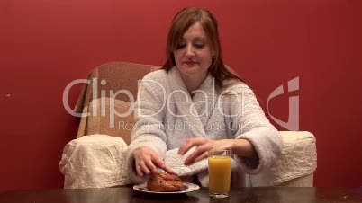 Woman Eating Breakfast 2