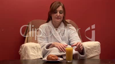 Woman Eating Breakfast 3