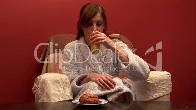 Woman Eating Breakfast 5