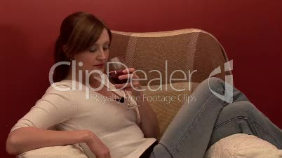 Relaxing with a Glass of Wine 3