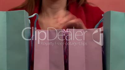 Time Lapse of Woman with Shopping