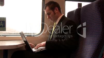 Businessman Working Outdoors 13