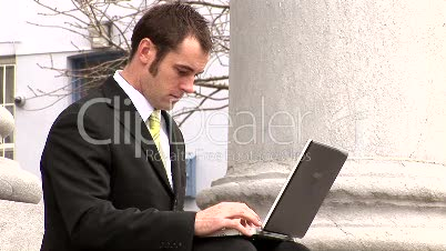 Businessman Working Outdoors 14