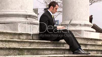 Businessman Working Outdoors 15