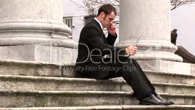 Businessman Working Outdoors 3