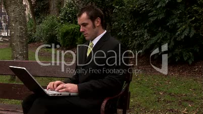 Businessman Working Outdoors 17