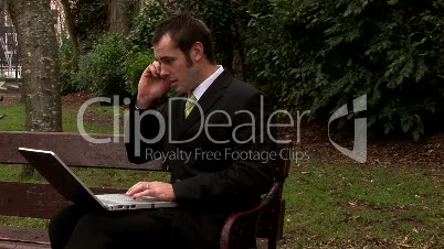 Businessman Working Outdoors 18