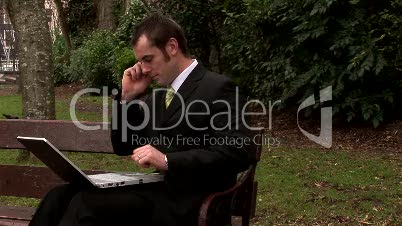 Businessman Working Outdoors 19