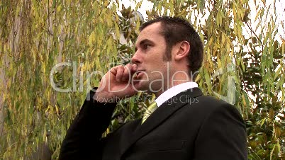 Businessman Working Outdoors 4