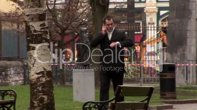 Businessman Working Outdoors 8