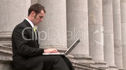 Businessman Working Outdoors 11