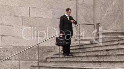 Businessman Working Outdoors 10