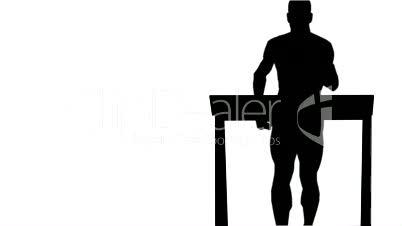 Running on a treadmill Front