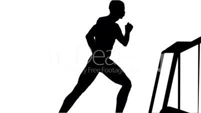 Running on a treadmill Side
