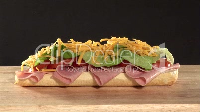 Stock Footage of a Sandwich