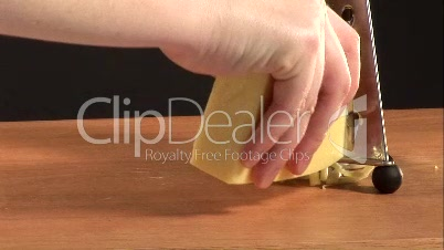 Stock Video - Grating Cheese