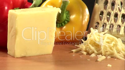 Stock Footage of Cheese Being Grated