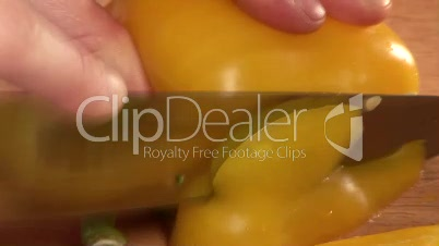 Stock Footage of Chopping Vegetables
