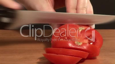 Time Lapse Stock Footage of Chopping Tomatoes