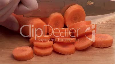 Stock Footage of Chopping Carrots