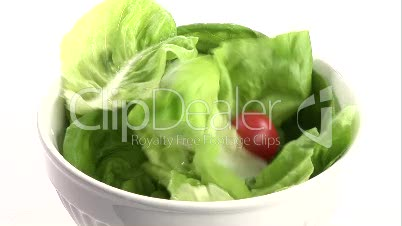 Stock Footage of Preparing a Healthy Salad