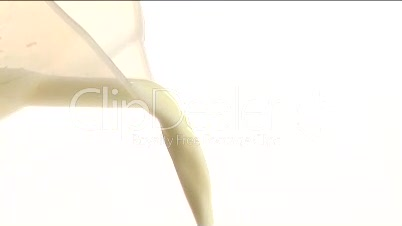 Stock Footage of Pouring Milk