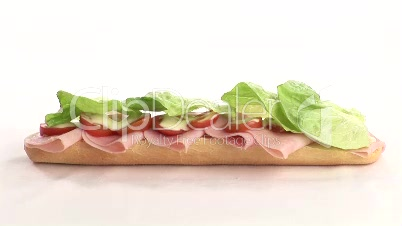 Stock Video Footage of Sandwich