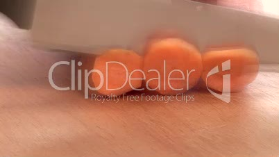 Stock Footage of a Carrot Being Peeled