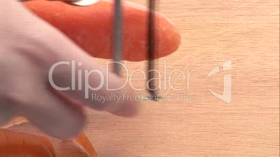Stock Video Footage of a Carrot Being Peeled