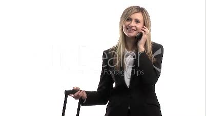 Businesswoman chatting on Mobile Phone