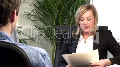 Young Woman Giving a Job Interview