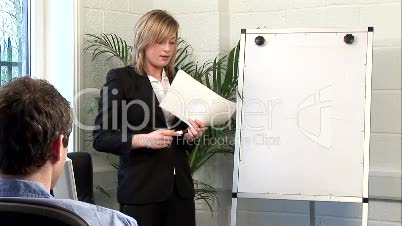 Young Adult Giving a Business Presentation